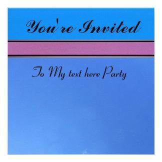 Invitación - azul y rosada - Multi-ocasión