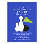 Invitación azul y verde del cumpleaños del fiesta