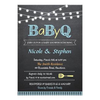 Invitación Babyq de la fiesta de bienvenida al beb