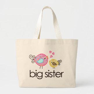 Invitación banal de la camiseta de la hermana gran bolsa de mano