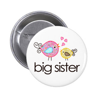 Invitación banal de la camiseta de la hermana gran pin redondo de 2 pulgadas