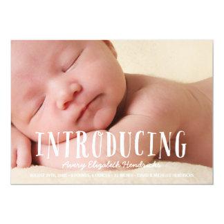 Invitación banal rústica del nacimiento de la foto
