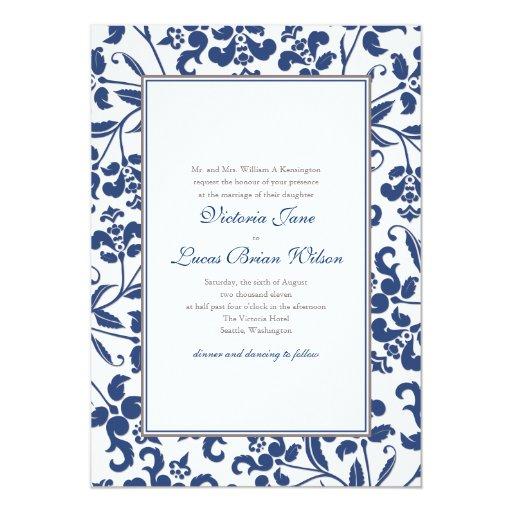 Invitación barroca del boda del marco