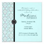 Invitación barroca del fiesta del dulce 16 del invitación 13,3 cm x 13,3cm