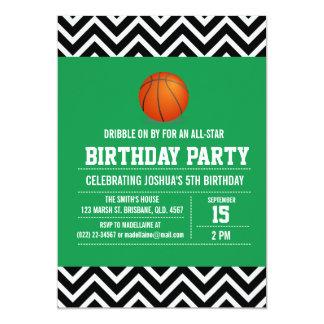 Invitación basketbal de encargo de la fiesta de