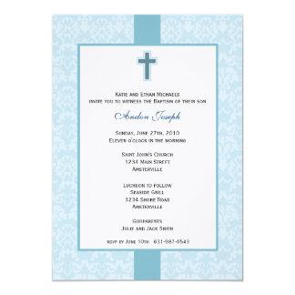Invitación bautismal del damasco del trullo
