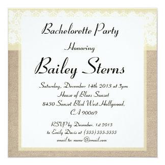 Invitación beige elegante del fiesta de