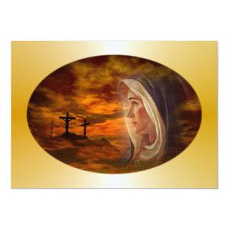 Invitación bendecida del Calvary del Virgen María