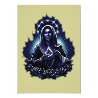 Invitación bendecida púrpura del Virgen María