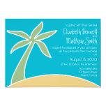 Invitación bilingüe del boda de playa