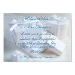 Invitación blanca 2 del compromiso del regalo