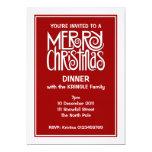 Invitación blanca de la cena de las Felices Invitación 12,7 X 17,8 Cm