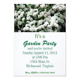 Invitación blanca de la fiesta de jardín de Bush Invitación 12,7 X 17,8 Cm