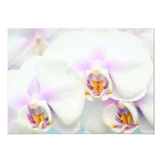 Invitación blanca de las orquídeas invitación 11,4 x 15,8 cm