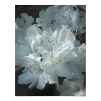Invitación blanca del boda de la azalea