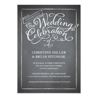 Invitación blanca del boda de la escritura de la invitación 12,7 x 17,8 cm