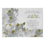 Invitación blanca del boda del damasco del vintage invitación 12,7 x 17,8 cm
