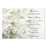 Invitación blanca del boda del Hydrangea