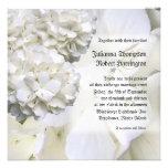 Invitación blanca del boda del Hydrangea, cuadrado