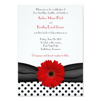 Invitación blanca del boda del lunar del negro