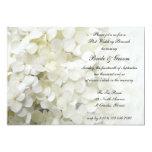 Invitación blanca del brunch del boda del poste