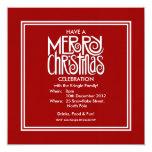 Invitación blanca del fiesta del tema de las invitación 13,3 cm x 13,3cm
