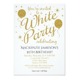 Invitación blanca del fiesta que todo el fiesta