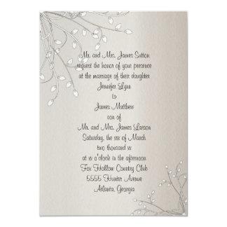 Invitación blanca hermosa del boda del sauce de invitación 11,4 x 15,8 cm