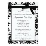invitación blanca negra del cumpleaños del arco invitación 12,7 x 17,8 cm