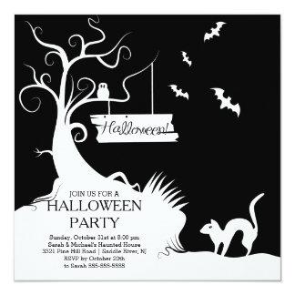 Invitación blanca negra moderna del fiesta de