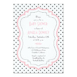 Invitación blanca negra rosada de la fiesta de invitación 12,7 x 17,8 cm