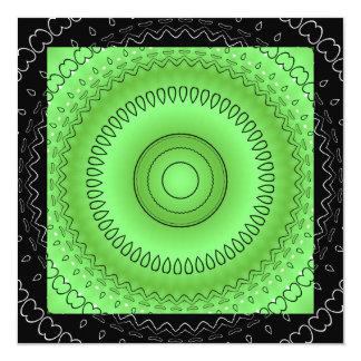 Invitación blanca negra verde del acontecimiento