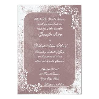 Invitación blanca romántica del boda del Flourish