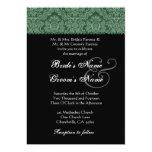Invitación blanca verde y negra del boda del invitación 12,7 x 17,8 cm