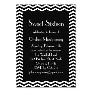 Invitación blanco y negro de los años 20 del dulce invitación 12,7 x 17,8 cm
