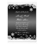 Invitación blanco y negro del boda del copo de