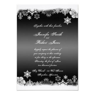 Invitación blanco y negro del boda del copo de invitación 12,7 x 17,8 cm