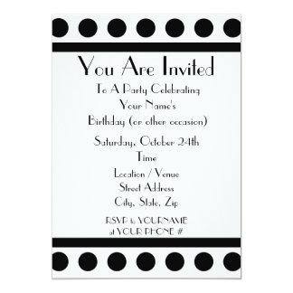 Invitación blanco y negro del fiesta