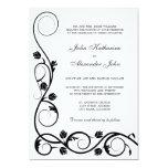 Invitación blanco y negro elegante de los