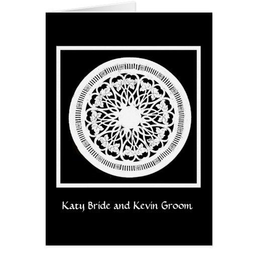 Invitación blanco y negro elegante del boda tarjetas