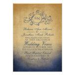 Invitación bohemia rústica del boda de la marina d