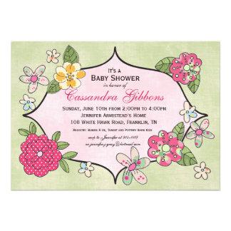 Invitación bonita de la fiesta de bienvenida al be