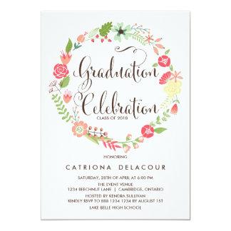 Invitación bonita de la fiesta de graduación de la