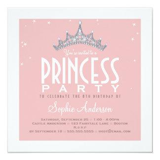Invitación bonita de la fiesta de la princesa