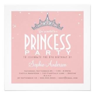 Invitación bonita de la fiesta de la princesa cump