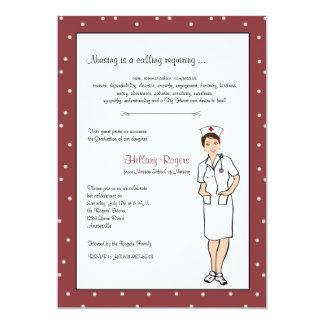 Invitación bonita de la graduación de la enfermera invitación 12,7 x 17,8 cm