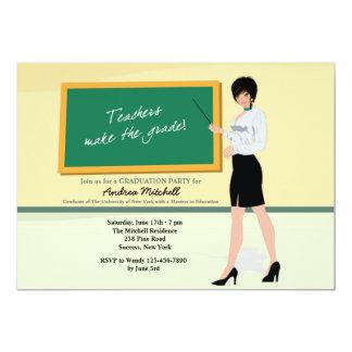 Invitación bonita de la graduación del profesor