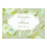 Invitación bonita del boda de la flor del Gardenia