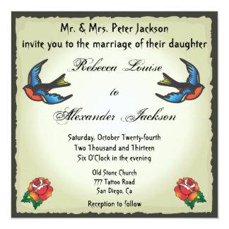 Invitación bonita del boda del tatuaje