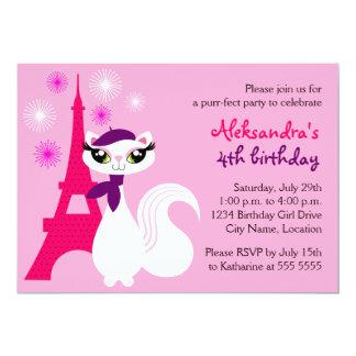 Invitación bonita del cumpleaños de París del